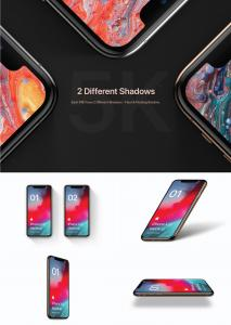 4 Free iPhone XS Kit Mockup