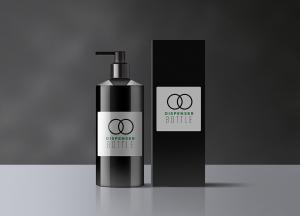 Free Dispenser Bottle Mockup