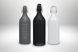 Free Swing Cap Bottle Mockup