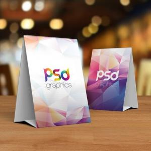 Free Table Tent Card Mockup PSD