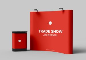Trade Show Banner Stand Backdrop – Free Mockup