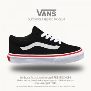 VANS™ Old School Shoes – Free PSD Mockup