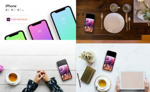 iPhone XS, XR and XS Max – Free PSD Mockup