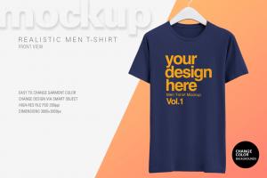 Free Realistic T-Shirt Mockup – Freebie PSD Mockups