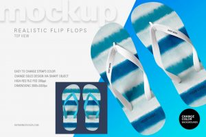 Flip Flop (Top View) – Free PSD Mockup