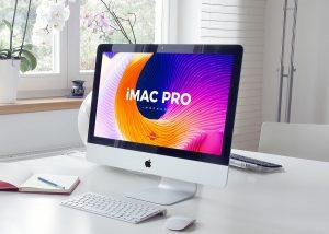 Elegant Interior iMac Pro – Free PSD Mockup