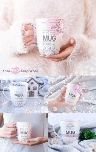 Free Mug Mockups (5 Set Mockups)