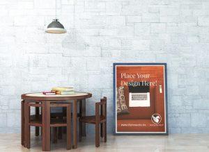 Frame Poster Free PSD Mockup