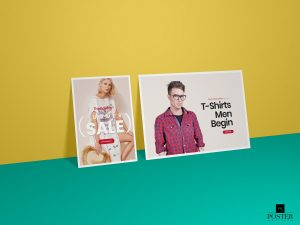 Horizontal & Vertical Poster – Free PSD Mockup