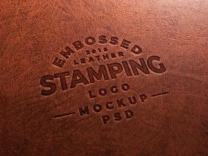Embossed Leather Stamping Logo – Free Mockup