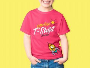 Little Girl T-Shirt – Free Mockup