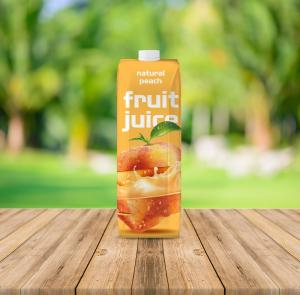 Fruit Juice Container & Twist Cap Free Mockup