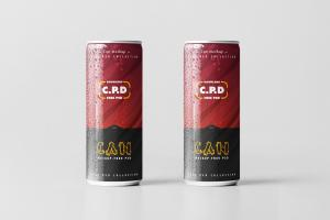 Realistic Can Free Mockup