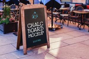 Chalk Board Free Mock-Up