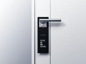 Door Hanger Free Mockup