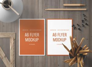 Free A6 Size Front & Back Flyer Mockup