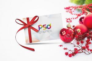 Christmas Gift Card – Free Mockup