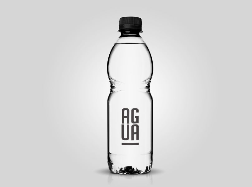 Clear Plastic Bottle Free Mockup Free Mockup