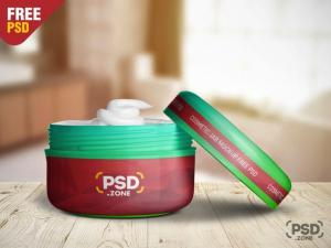 Cosmetic Plastic Jar – Free Mockup