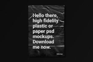 Dark Plastic A4 Flyer/Poster – Free Mockup