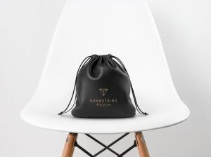 Leather Drawstring Pouch – Free Mockup