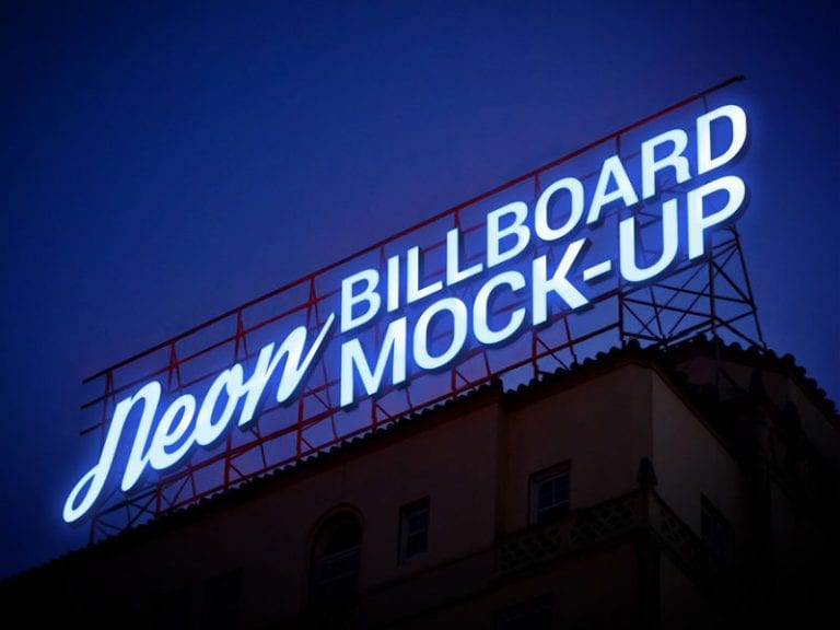 Free-Electronic-Neon-Sign-Billboard-Mockup-PSD-2-768x576-min