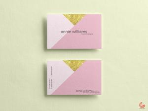 Elegant Texture Business Cards Free Mockup