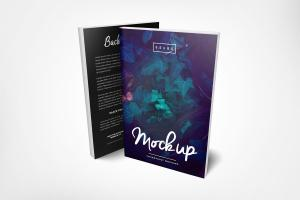 Front and Back Paperback Book – Free Mockup