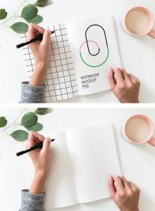 Hand Drawn Sketchbook – Free Mockup