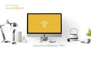 Workspace iMac – Free Mockup