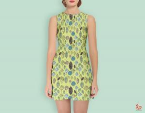 Free Modern Girl Dress Mockup