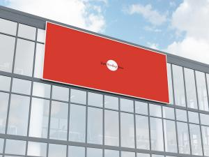 Free Office Building Facade Billboard Mockup