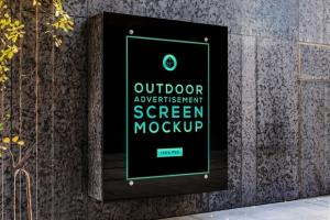 Outdoor Advertising Screen Free Mockup