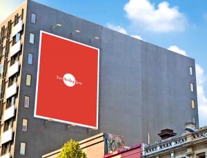 Building Wall Advertisement Billboard Free Mockup