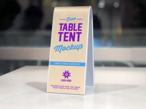 2-Sided Plastic Table Tent – Free Mockup