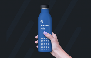 Female hand holding Plastic Bottle – Free Mockup