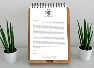 Letterhead (Notepad) Free Mockup