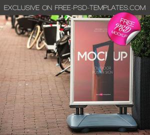 Free Outdoor Poster Sign Mockup