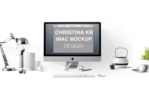 Creative iMac – Free Mockup