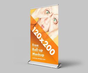 Roll Up 120×2000 CM Free Mockup