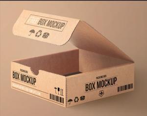 Free Carton Packing Box Mockup