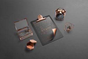 Isometric Branding Scene Free Mockup