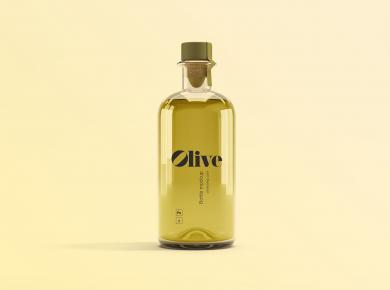 Olive Oil Bottle Free Mockup