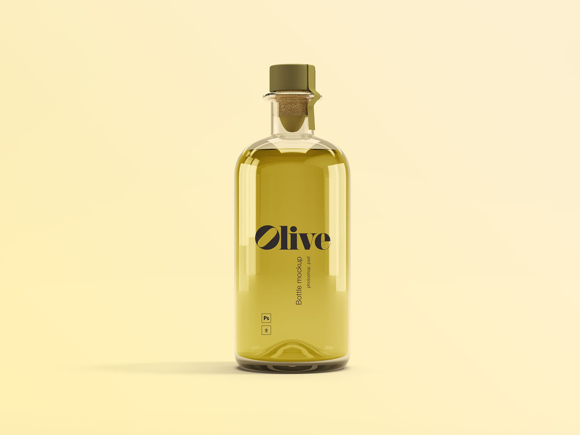 Olive Oil Bottle Free Mockup
