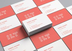 Perspective Business Cards Free Mockup