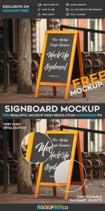 Stunning Signboard – Free PSD Mockup
