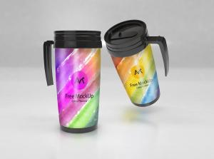 Realistic Thermos Free Mockup