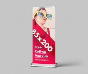 Free Roll-Up Mockup in 85×200 cm