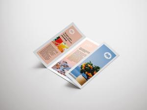 Single Gate Fold Brochure Free Mockup