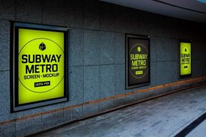 Subway Metro Screen Free Mockup